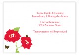 Bright Poppy Enclosure Card