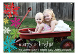 Bright Snowflakes Photo Card