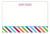 Bright Stripes Flat Note Card