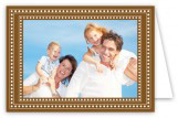 Brown and White Folded Photo Card