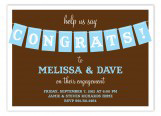 Brown Congrats Party Banner Invitation