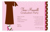 Brown Dots and Confetti Invitation