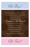Brown Dots Girl and Boy Twins Invitation