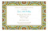 Brown Modern Dots Invitation