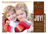 Brown Peace Love Joy Band Photo Card