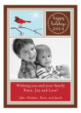 Brown Winter Cardinal Photo Card