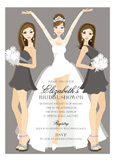 Brunette Bridal Beauties Invitation