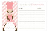 Brunette Chef Recipe Card