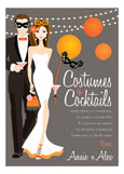 Brunette Costumes + Cocktails Invitation