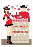 Brunette Southern Style Christmas Invitation