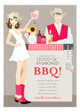 Brunette Southwest BBQ Invitation