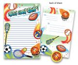 Airbrush Sports Kids Camp Stationery