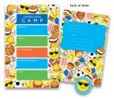 Boy Emoji Kids Camp Stationery