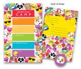Girl Emoji Kids Camp Stationery
