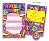 Airbrush Love Kids Camp Stationery