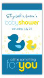 Bubbly Ducky Rectangular Gift Tag
