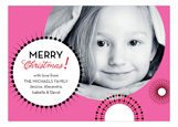 Bumblegum Holiday Bursts Photo Card