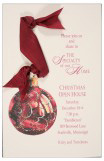 Burgundy Bauble Invitation