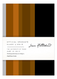Burnt Orange Stripes Invitation