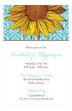 Butter Aqua Sunflower Summer Cocktail Party Invitations