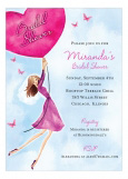 Butterflies And Balloons Invitation