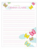 Butterfly Breeze Notepad