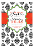 B+W Brocade Soiree Invitation