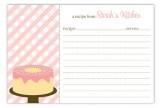 Cake Stand Recipe Card