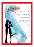 California Couple Invitation