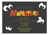 Calling All Monsters Invitation