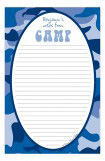 Camo Blue Camp Notepad