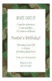 Camouflage Frame Boys Party Invitation