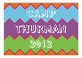 Kids Camp Stationery Chevron Postcard