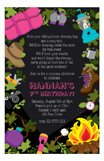 Camping Girl Birthday Party Invitation