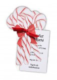 Die-Cut Candy Canes Invitation
