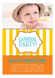 Carnival Stripe Yellow Photo Invitation