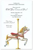 Carousel Prancer Invitation