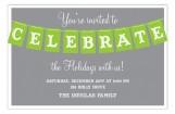 Celebrate Banner Invitation