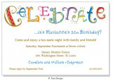 Celebrate Multi Invitation