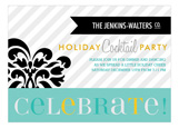 Celebratory Stripes Invitation