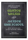Chalkboard Grad Boy Invitation