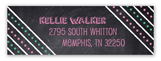 Chalkboard Grad Girl Return Address Labels