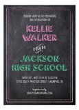 Chalkboard Grad Girl Invitation