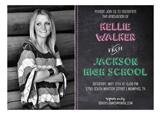 Chalkboard Grad Girl Photo Card