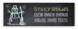 Chalkboard Snowman Address Label