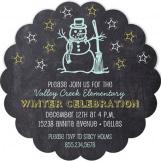 Chalkboard Snowman Invitation