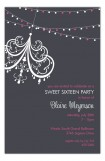 Charcoal Party Lights Invitation