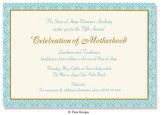 Chateau Oxford Blue and Gold Invitation