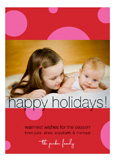 Cheerful Pink Dots Photo Card
