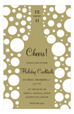 Gold Cheers Champagne Invitation